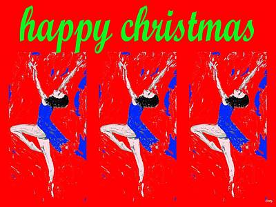 Ballet Dancers Mixed Media - Happy Christmas 112 by Patrick J Murphy