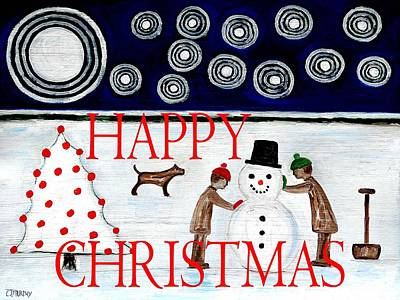 Happy Christmas 29 Art Print by Patrick J Murphy