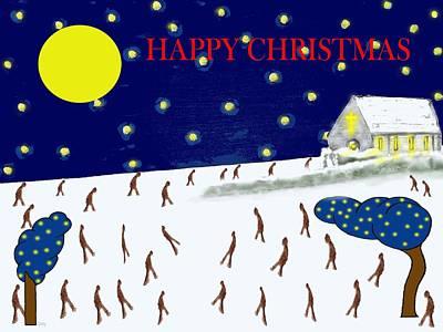Religious Art Mixed Media - Happy Christmas 95 by Patrick J Murphy