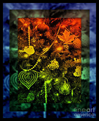 Photograph - Happy Christmas Joy - Stained Glass Series by Miriam Danar