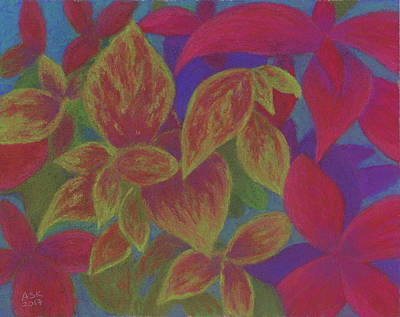 Pastel - Happy Coleus by Anne Katzeff