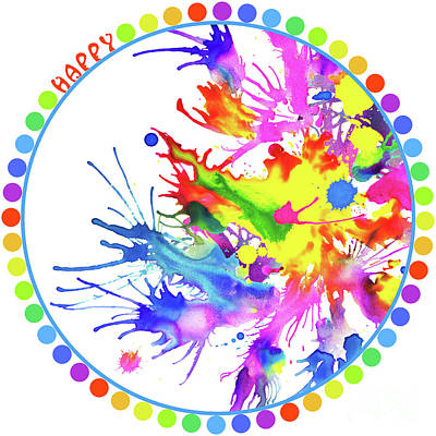 Wall Art - Painting - Happy Color Splash by Svetlana Titarenko