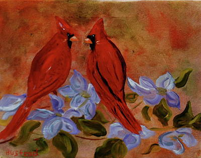 Painting - Happy Couple.... by Brian Hustead