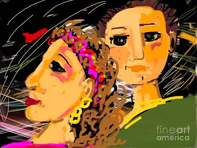 Digital Art - Happy Couple by Elaine Lanoue