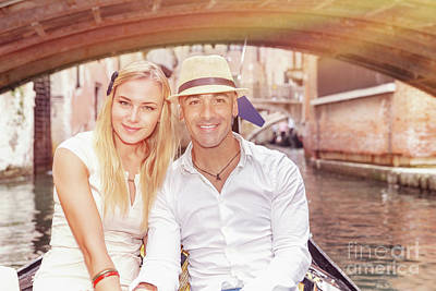 Photograph - Happy Couple In Venice by Anna Om