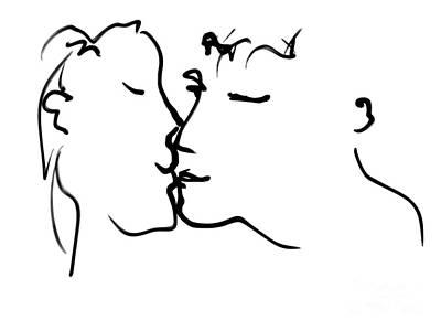 Happy Couple Art Print