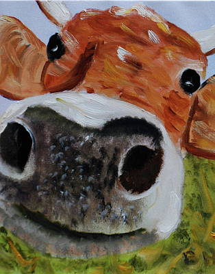 Painting - Happy Cow by Brian Hustead
