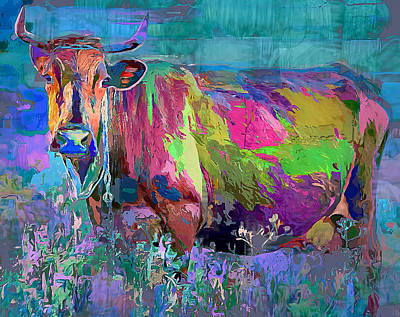 House Pet Digital Art - Happy Cow by Yury Malkov