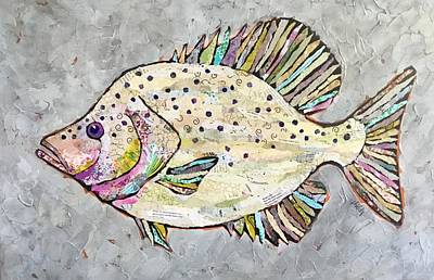 Painting - Happy Crappie by Phiddy Webb