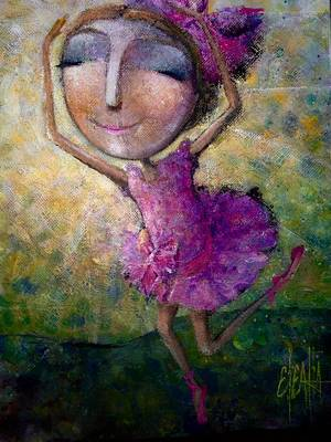 Happy Dance Art Print by Eleatta Diver