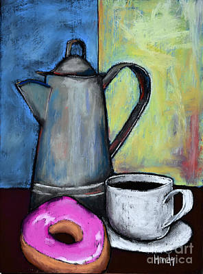 Donut Painting - Happy by David Hinds