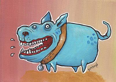 Painting - Happy Dawg by Tim Boyd