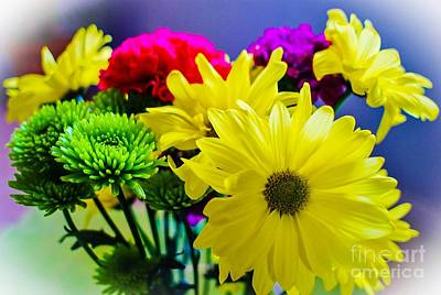 Photograph - Happy Day Flowers by Angela J Wright