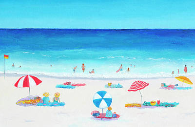 Beach Style Painting - Happy Days 1 by Jan Matson