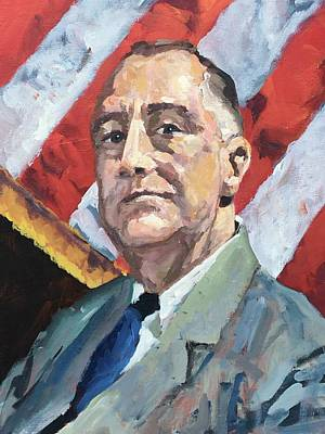 Franklin Delano Roosevelt Painting - Happy Days Are Here Again by Susan E Jones