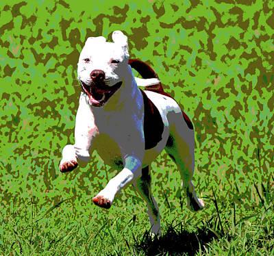 Terrier Digital Art - Happy Days by Dorrie Pelzer