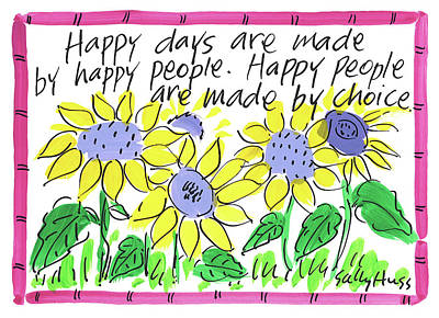Wall Art - Painting - Happy Days by Sally Huss