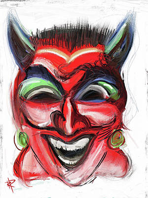 Mixed Media - Happy Devil by Russell Pierce