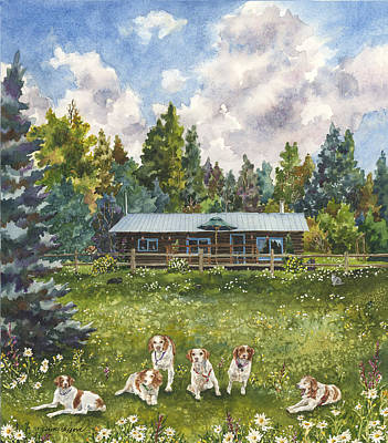 Painting - Happy Dogs by Anne Gifford