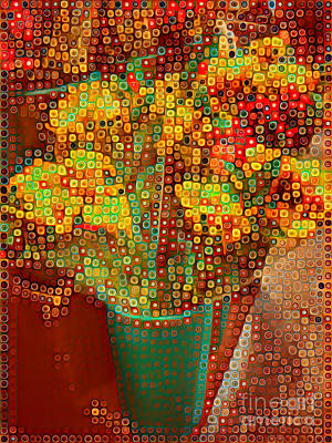 Photograph - Happy Dots - Bouquet In The Abstract by Miriam Danar