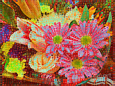 Photograph - Happy Dots - Gerbera Daisies by Miriam Danar