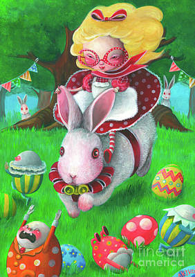 Painting - Happy Easter by Akiko Okabe