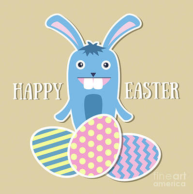 Mascot Drawing - Happy Easter by Alina Krysko