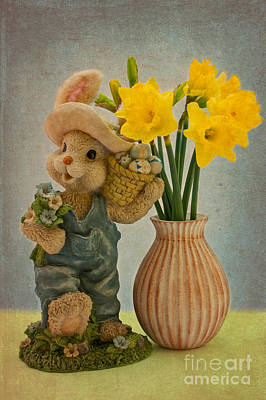 Happy Easter Art Print by Angela Doelling AD DESIGN Photo and PhotoArt