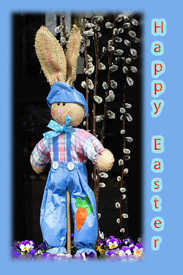 Happy Easter Bunny Boy Decoration Greeting Card Art Print by Mother Nature