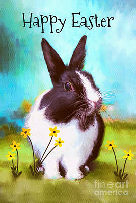 Happy Easter Digital Art - Happy Easter Bunny by Tina LeCour