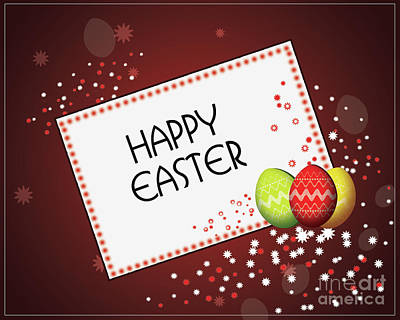 Digital Art - Happy Easter Card 1 by Scott Parker