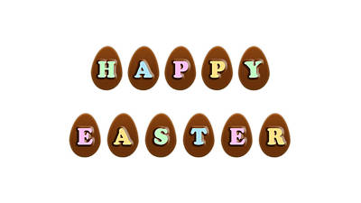 Happy Easter Digital Art - Happy Easter Chocolate Eggs by Shelley Neff