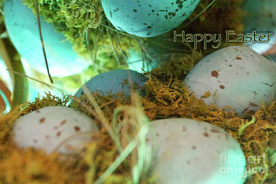 Blue Hues - Happy Easter by Christine Segalas