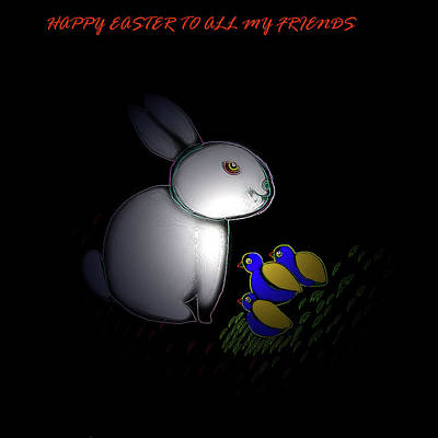 Digital Art - Happy Easter by Latha Gokuldas Panicker