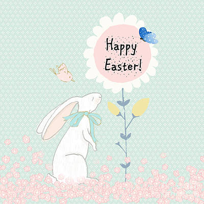 Digital Art - Happy Easter by Pam  Holdsworth