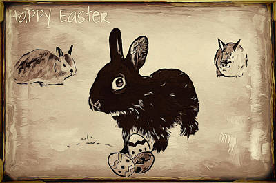 Drawing - Happy Easter by Pennie  McCracken