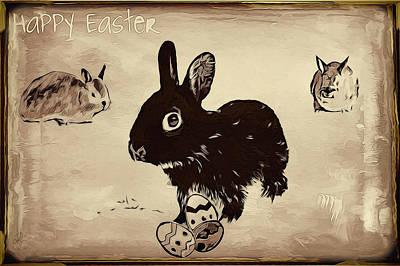 Digital Art - Happy Easter by Pennie McCracken