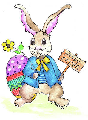 Painting - Happy Easter by Rosemary Aubut