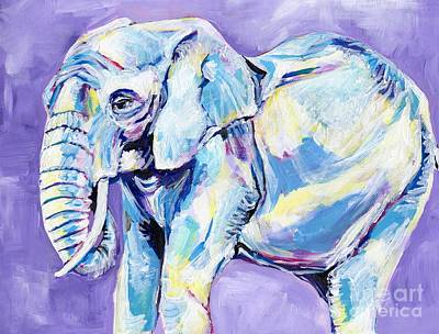 Nursery Painting - Happy Elephant 2 by Anne Seay