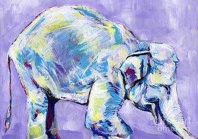 Happy Elephant Painting - Happy Elephant by Anne Seay