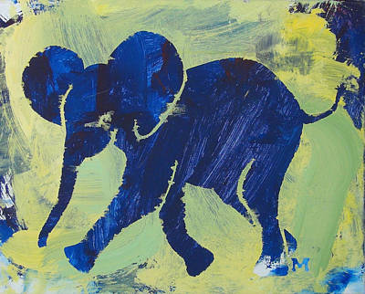 Painting - Happy Elephant by Candace Shrope