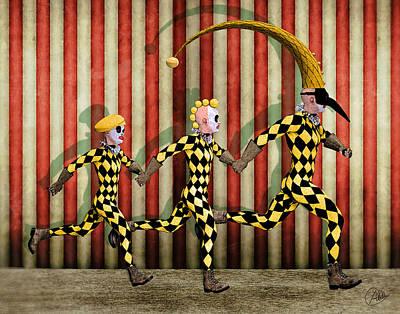 Framed Art Digital Art - Happy Family Circus by Quim Abella