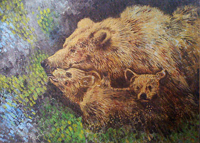 Grizzly Bear Art Print by Remy Francis
