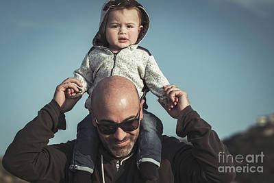 Photograph - Happy Father With Son by Anna Om