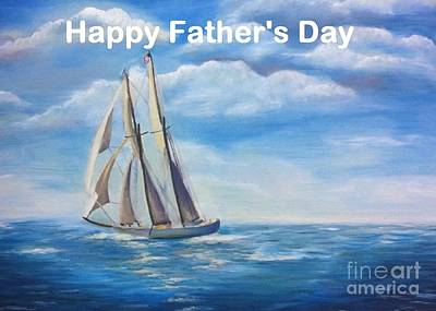 Painting - Happy Father's Day Card by Shelia Kempf