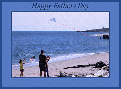 Photograph - Happy Fathers Day - Flying Kites by Sandra Huston