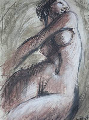 Frontal Nude Painting - Happy - Female Nude by Carmen Tyrrell