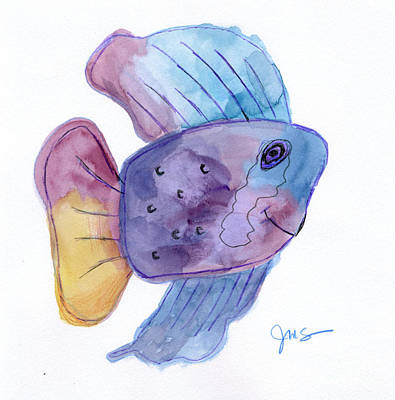 Painting - Happy Fish by Julia Stubbe