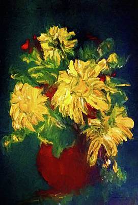 Painting - Happy Floral Still Life by Theresa Campbell
