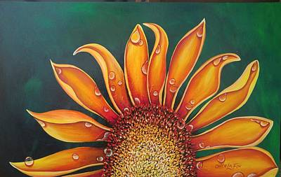 Painting - Happy Flower by Owen Lafon